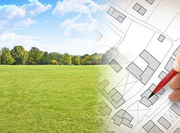 Illustration du terrain à bâtir de 320m²<br> à ABLIS (78)